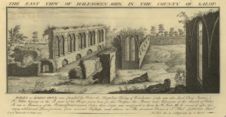 Halesowen Abbey East By Samuel And Nathaniel Buck