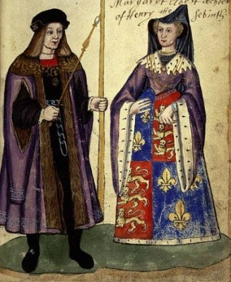 James'-parents-James-IV-and-Margaret-daughter-of-Henry-VII