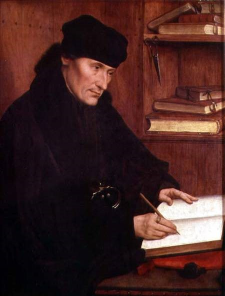 Left Side Of Diptych By Quentin Matsys Showing Erasmus © The Royal Collection