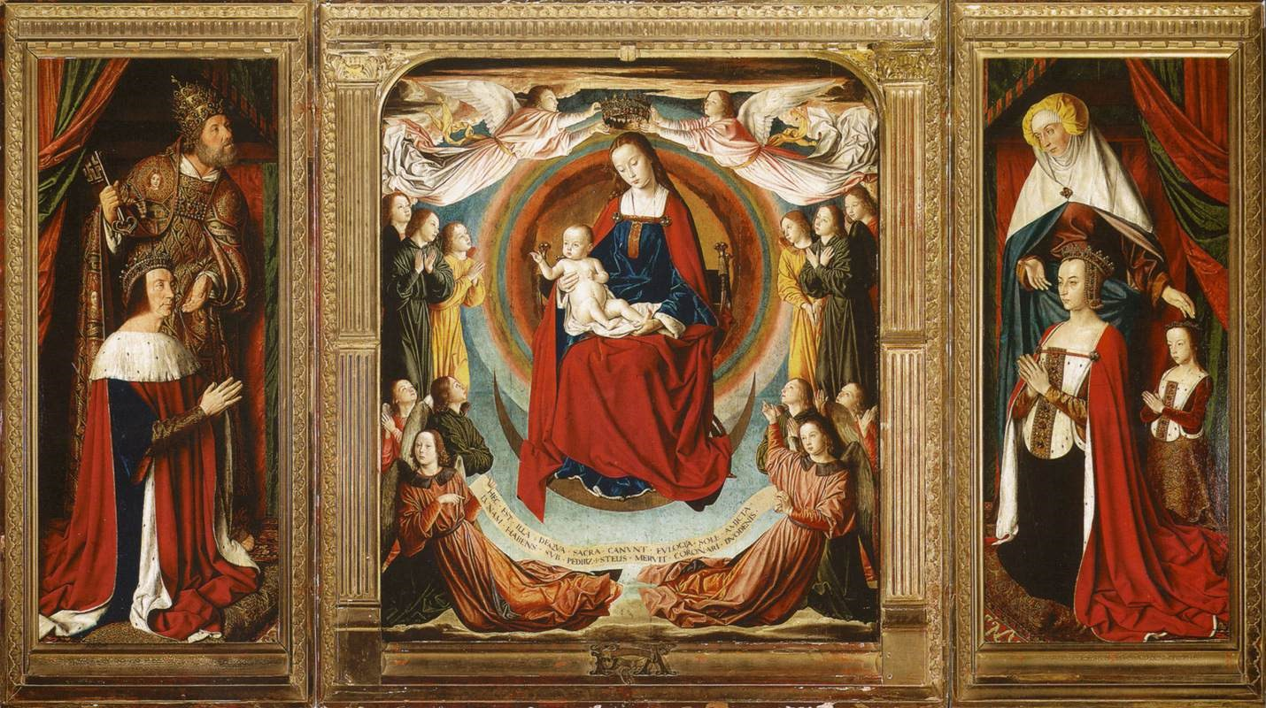 Triptych In Cathedral Of Moulins  Pierre Ii And Anne Of Beaujeu With Their Daughter Suzanne Of Bourbon