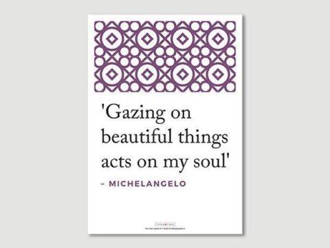 Poster: Michelangelo Quote