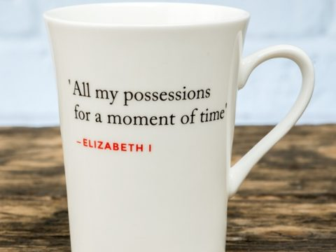 Bone China Mug with Elizabeth I Quote