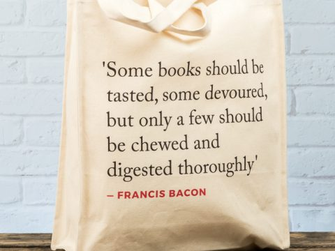 Francis Bacon Quote Tote Bag