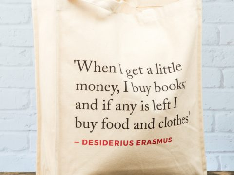 Erasmus Quote Tote Bag