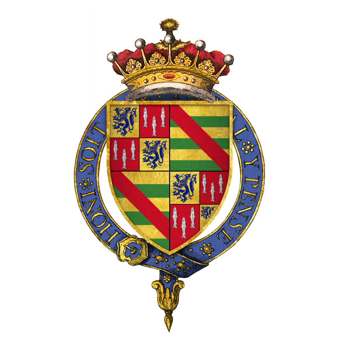 Coat of arms of Sir Henry Percy 4th Earl of Northumberland KG
