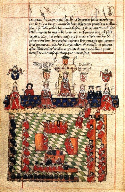 A 16Th Century Depiction Of Edward I In Parliament – Quia Emptores Was Passed In His Reign