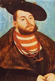 Elector Johann Friedrich Of Saxony 1503 – 1554 Lucas Cranach