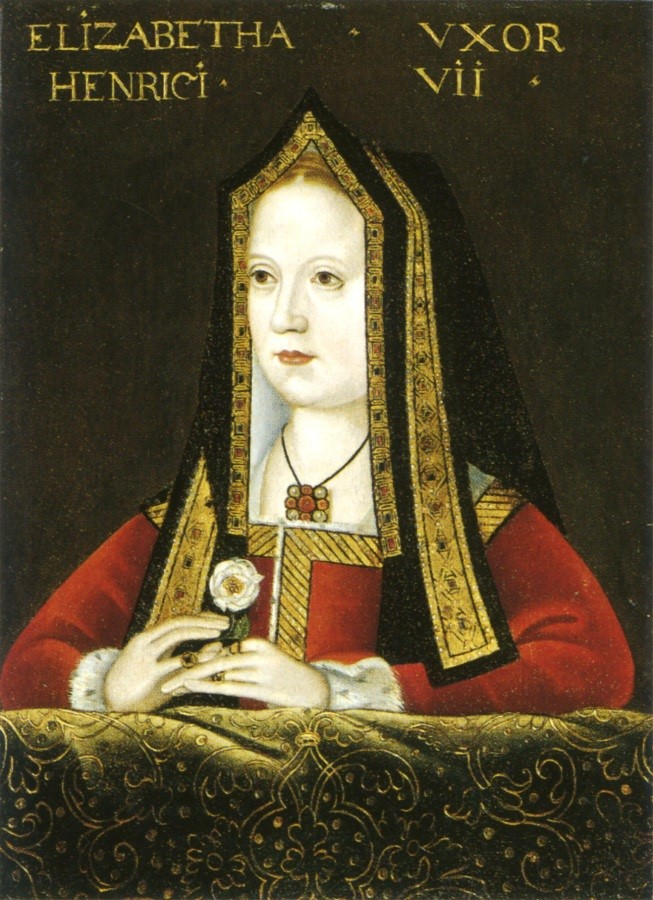 Elizabeth-of-York-in-a-church-hood-–-completely-covering-her-ears