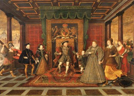 The Allegory Of The Tudor Succession – Lucas De Heere 1534 – 1584 Copyright National Museum Of Wales
