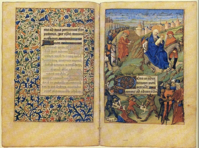 The Flight Into Egypt Par Anonymus — Stundenbuch Der Margarete De Foix Herzogin Der Bretagne Domaine Public